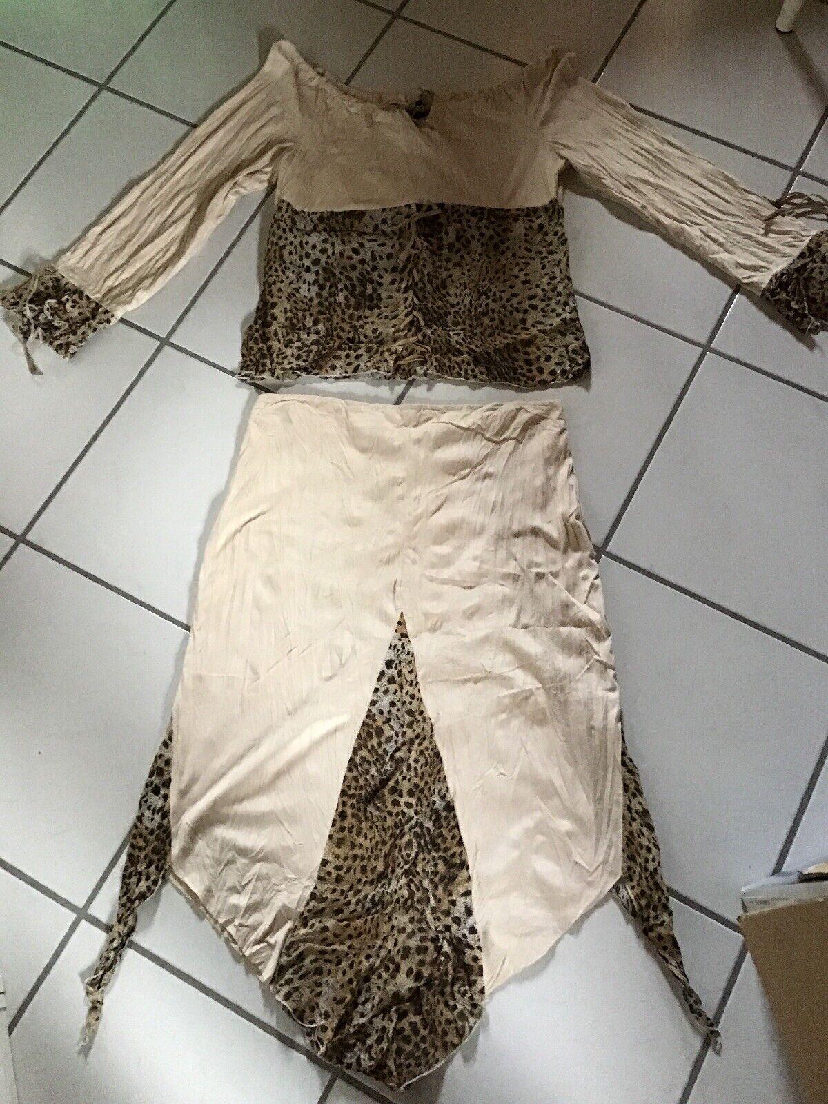 💫❤ Sexy Kleid 2-teiler Leopard-Look Gr 40/42 Neu!❤️💫