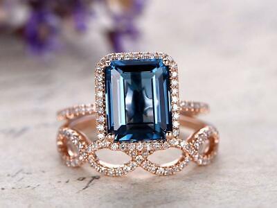 Blue topaz ring Topaz Engagement ring Silver ring Gift ring Promise ring Topaz ring London Blue Topaz