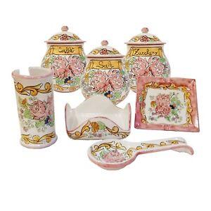 Détails sur Set Arredo Accessori Cucina in Ceramica di Vietri \