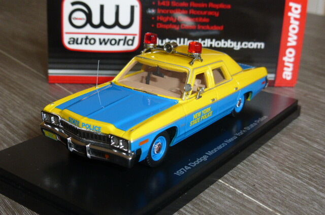 DODGE MONACO NEW YORK STATE POLICE 1974 ERTL AUTO WORLD HOBBY 1 43 NY TOY CAR