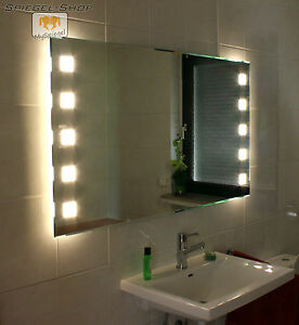 Badezimmerspiegel Beleuchtet forte cube ii bad wand kristall spiegel beleuchtet satiniert led 17