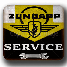 ZUNDAPP MOTORCYCLE SERVICE VINTAGE GARAGE WORKSHOP METAL TIN SIGN WALL CLOCK