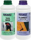 Nikwax Tech Wash and TX Direct Wash-in Cleaner 1L