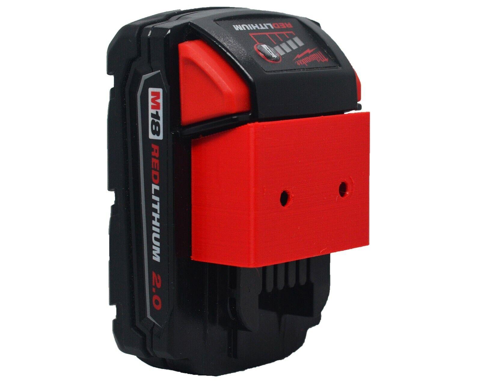 *4-Pack* Milwaukee M18 Slim Battery Holder - Screw or Ziptie Wall Mount