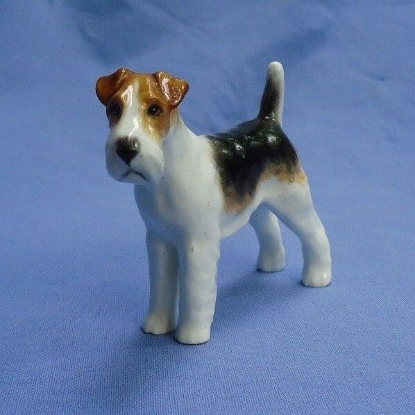 WIRE HAIRED FOX TERRIER Royal Worcester puce dog | eBay