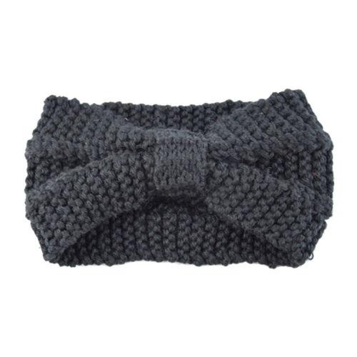 Fashion Womens Bowknot Hair Band Headwrap Winter knitting Knit Wool Headband ##