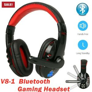 Wireless Bluetooth Gaming Headset Headphones Stereo With Mic For Pc Laptop Hot Ebay