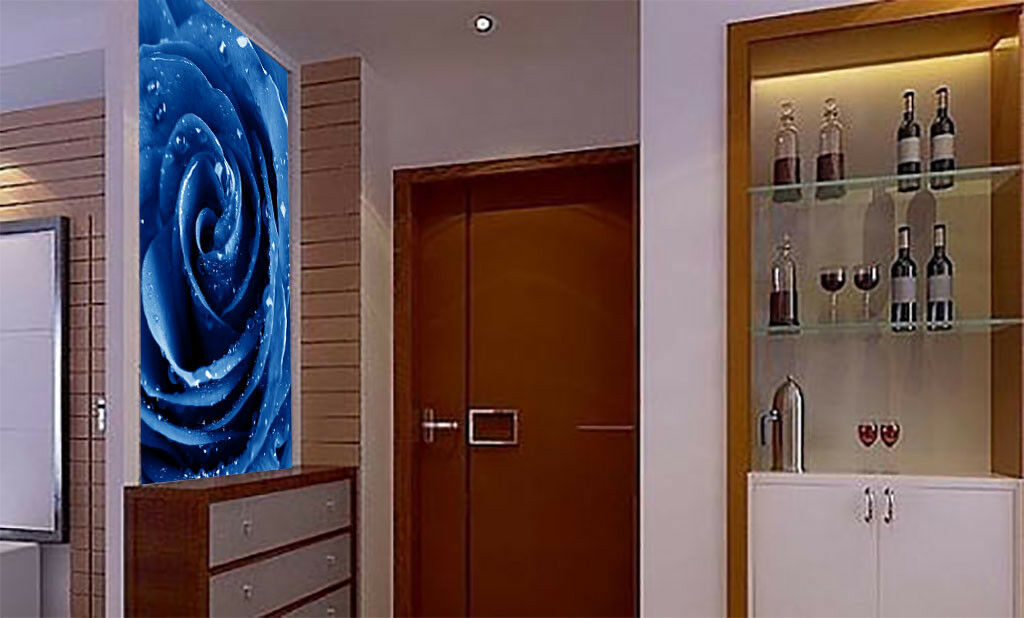 3D Fashion Blau Rose 7 Wall Paper Murals Wall Print Wall Wallpaper Mural AU Kyra
