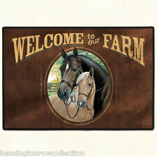 DOOR MATS - WELCOME TO OUR FARM DOORMAT - HORSE WELCOME MAT - HORSE DOORMAT