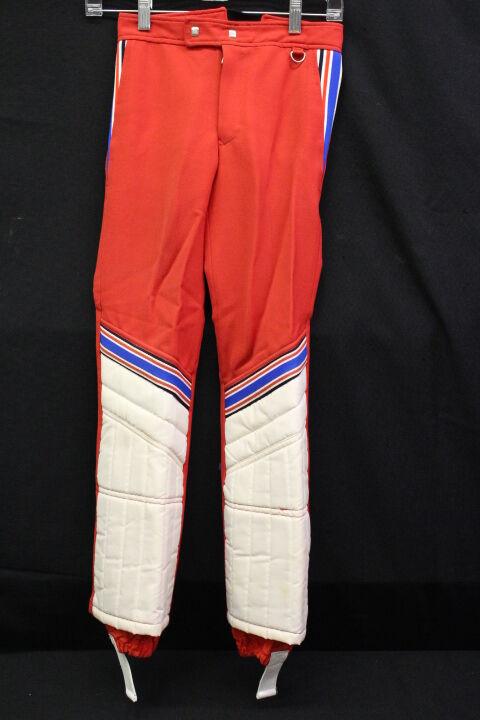 VINTAGE OBERMEYER Youth Winter Snow Ski Pants, Wool Blend, Navy W Stripes, Sz 10