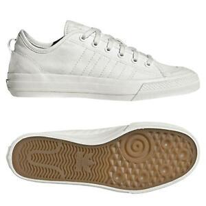 Adidas-Originals-Nizza-Lo-RF-Blanc-Baskets-Skate-Chaussures-En-Toile-Baskets