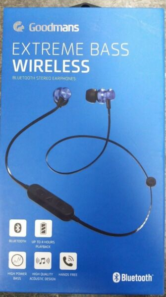 d6c8f738506 Goodmans Extreme Bass Wireless - Blue Ro 110661 for sale online | eBay