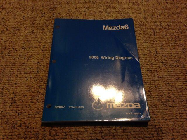 2008 Mazda6 Mazda 6 Factory Original Electrical Wiring