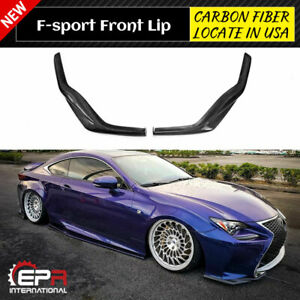For Lexus RC200t RC350 15-16 F Sports JDM Style Carbon Front Bumper Lip Bodykits