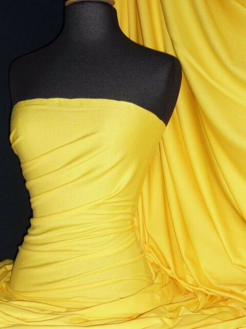 Yellow cotton interlock jersey material-t shirts