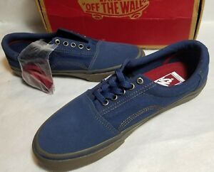 fedfaf0340 New Vans Rowley Solos Pro Ultra Cush Gum Navy Skate Dress Blue Shoe ...