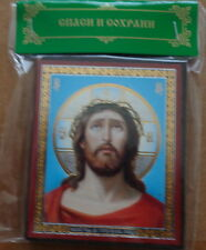 Russian wood icon  Christ  #1 s