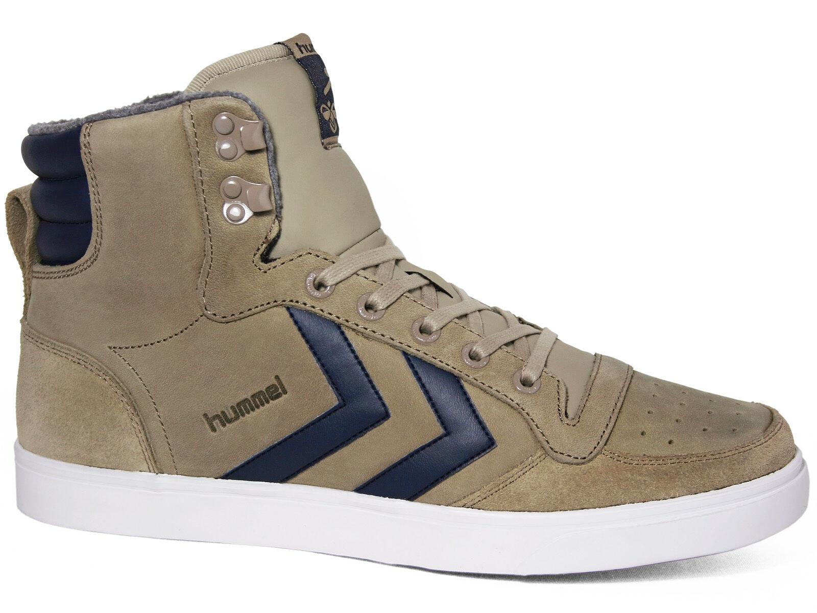 Hummel Stadil Winter Sneaker Leather High Chinchilla Hellbraun 64-180-1515 Leder