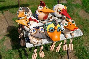 Keramikgartenterrassewetterfestvogelhahngartenstecker
