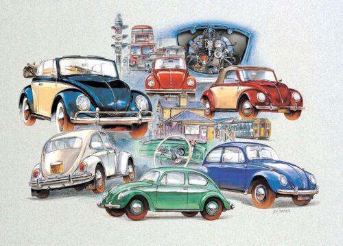 VW Bug Beetle Type 1 Karmann THE PEOPLE/'S CAR Fine Art Print VOLKSWAGEN