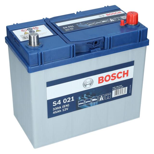 PKW Autobatterie 12 Volt 45 Ah Bosch S4 021 Starterbatterie ersetzt 50Ah 55Ah