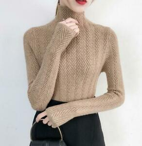 aihihe Womens Knit Tops Sweaters Crew Neck Button Long Sleeve Slim Ribbed Classic Knitted Sweater Pullover