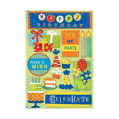 "Karen Foster Design ""It's My Party"" Cardstock Stickers! Birthday"
