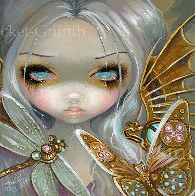 Fairy Faces 208 Jasmine Becket-Griffith art faery steampunk pop SIGNED 6x6 PRINT