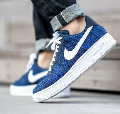 Nike Air Force 1 Flyknit 2.0 Navy Blue