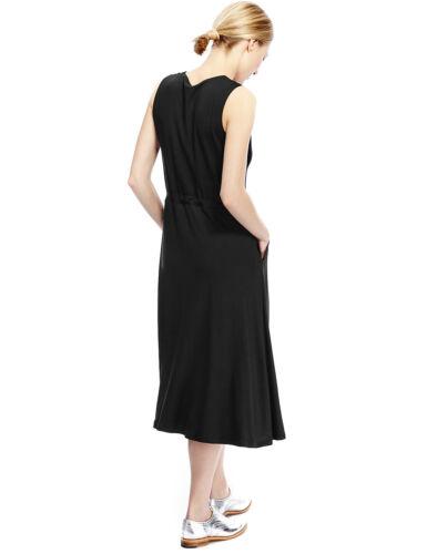 New M/&S BEST OF BRITISH Black Fit /& Flare Jersey Dress  Sz UK 10 /& 14
