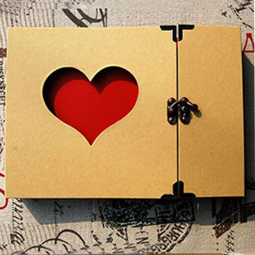 Hollowed Heart Love Shape Photo Photography Album Scrapbook Sticker DIY Gift