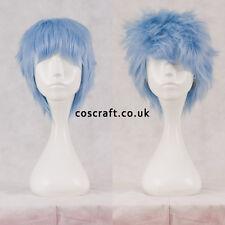 Corto a Strati SOFFICI spikeable Cosplay Parrucca in Baby Blue, il venditore Regno Unito, Jack Stile