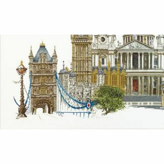 THEA GOUVERNEUR  470  LONDON   COUNTED  CROSS STITCH KIT  Linnen 36 count