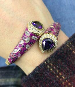 Turkish Handmade Sterling Silver 925 Bracelet Cuff With Mina