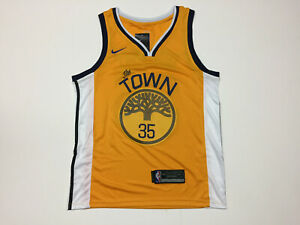 the latest f5416 d56a6 Details about Kevin Durant #35 Golden State Warriors The Town Men's Yellow  Jersey New