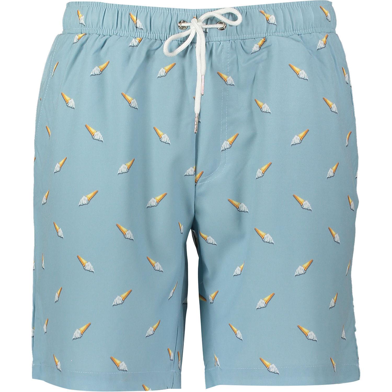 MOSMANN Australia - Men's bluee Swim Shorts Ice Cream Print - size Medium