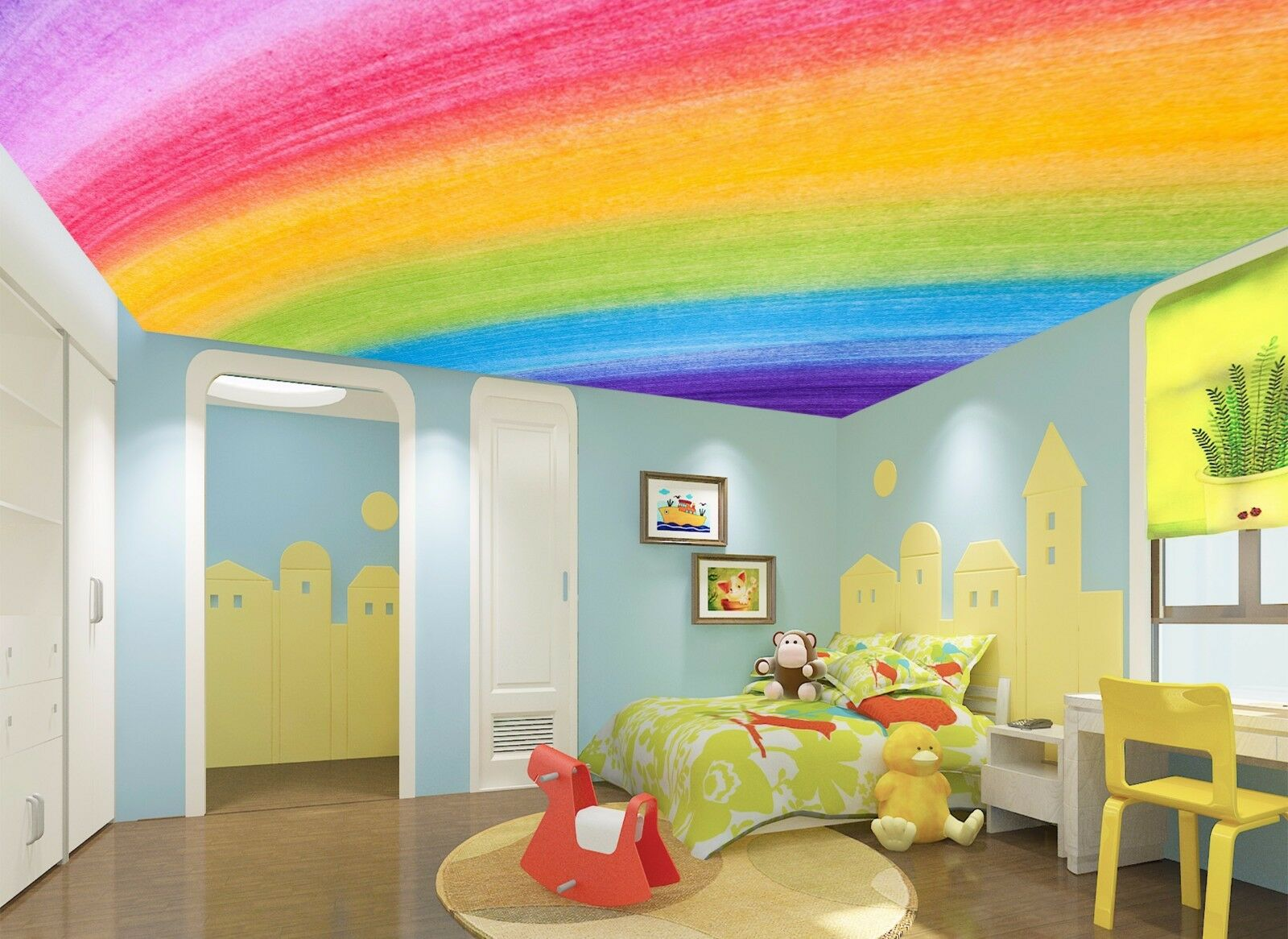 3D Rainbow 753 Ceiling WallPaper Murals Wall Print Decal Deco AJ WALLPAPER GB