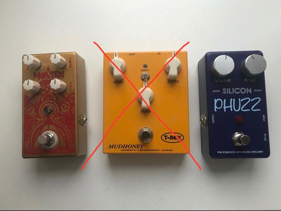 Diverse pedaler. Overdrive og Fuzz , T-Rex