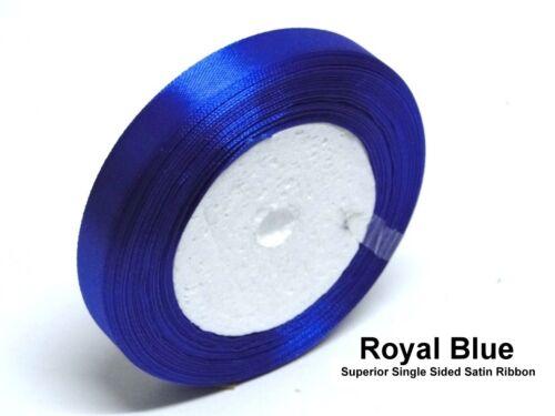 Azul Real 6mm Cinta De Raso Boda Cinta Oficios Recorte de una sola cara