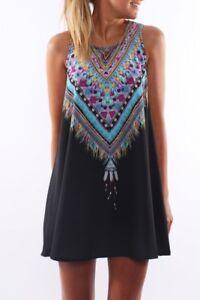 Women-Bohemian-Vintage-Printed-Ethnic-Style-Sleeveless-Loose-Casual-Mini-Dress