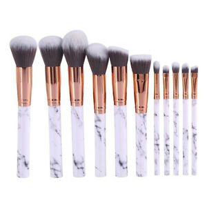 7119ead52d7 10pcs Marble Make up Brush Set Foundation Blush Contour Powder ...