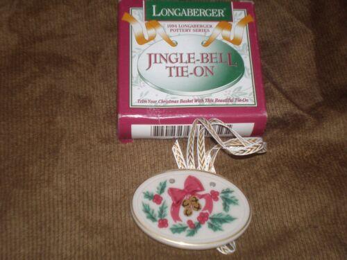 Longaberger 1994 Christmas Jingle Bell Basket Tie-On