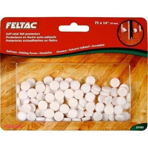 """23103 10mm 1 Pack Feltac Self-stick Felt Protectors 75 X 3//8/"""""""