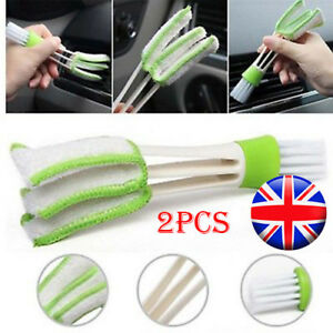 2PCS-Car-Vent-Air-Condition-Blind-Cleaner-Keyboard-Duster-Double-Heads-Brush-COU