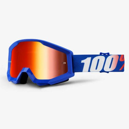 CLEAR LENS 2019 100/% PERCENT STRATA MX MOTOCROSS GOGGLES NATION RED MIRROR