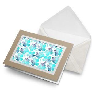 Greetings-Card-Biege-Tropical-Hibiscus-Flowers-2613