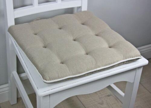 Oreiller 40x40cm blanc crème marron sitzkisssen remplissage Coussin Oreiller Coussins de chaise