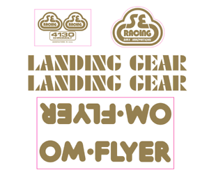 OM Flyer Decal set - gold on clear