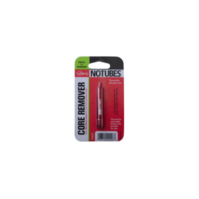 NoTubes Presta /& Schrader Valve Core Remover Stans Core Removal Tool Red