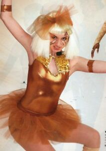 NWOT-FUNKY-Shorty-Unitard-amp-Tutu-copper-Metallic-Gold-Sequin-Small-Adult-Hiphop